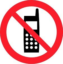 携帯電話使用禁止